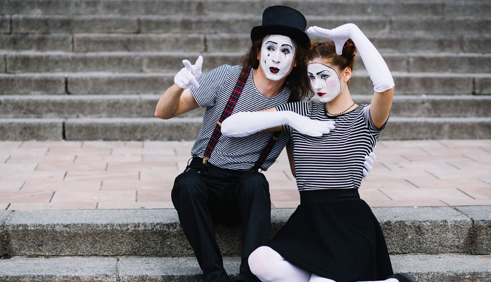 Mime Artists Make Up